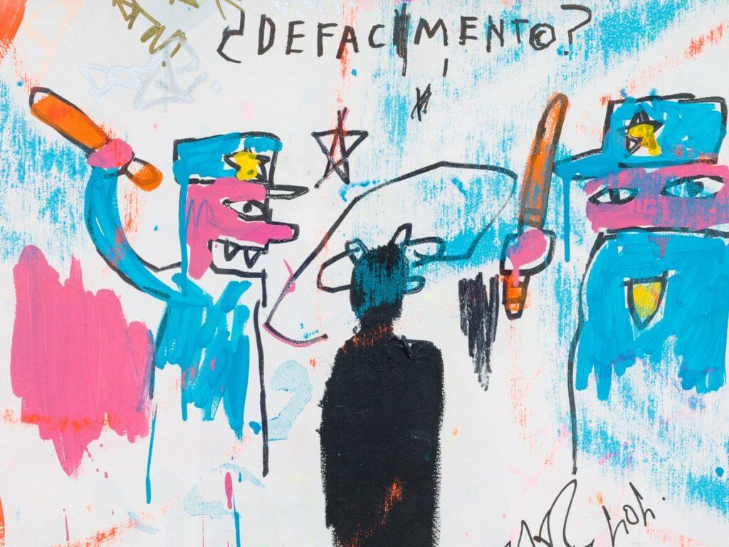 Defacement van Jean Michel Basquiat